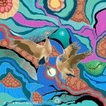 Dreamtime Series: Dancing Cranes #3