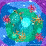 Dreamtime Series: Turtle in Moonlight